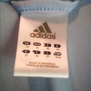 adidas Jackets & Coats - EUC LIGHT BLUE ADIDAS TRACK JACKET SIZE MEDIUM